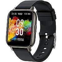 """Montre Connectée Homme Femme 1,69"""" Smartwatch pour Android iOS Podometre Montre Sport Cardiofrequencemetre, Montre…"""