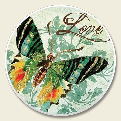 Butterfly Love Car Coaster, Single by Highland Graphics by Creative Ventures - Car Coaster