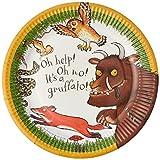 Talking Tables The Gruffalo; Grüffelo-Pappteller für Kindergeburtstage und Partys, Bunt, 23 cm (12 pro Pack in 4 Designs)