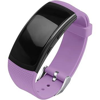 OenFoto Bracelet Compatible Gear Fit2 Pro/ Fit2, Bande de Remplacement en Silicone pour Samsung