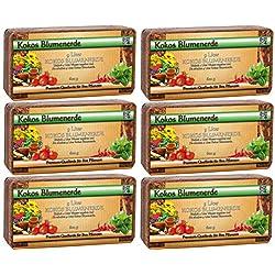 Humusziegel ,Brique d'humus - terre de noix de coco sans tourbe - 50 L - 6 x 600 g