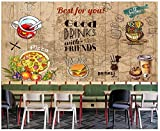 Murale Carta Da Parati Customization-Muro DiVetro Per IlTempo Libero DiWhisky DiBevanda Di Birra Di Grano Di Mappa Di Mondo,Parete Di Fondo Di Bar Di Tè,350Cmx245Cm (137,8 X 96,5 In)