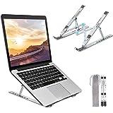 Bansga Supporto PC Portatile Angolazione Regolabile Porta Notebook Pieghevole Alluminio Porta PC Supporto per MacBook Air/PRO