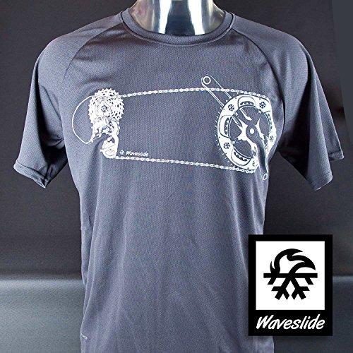 Funktions-Sport-T-Shirt Rennrad Schaltung Mountainbike MTB Fahrrad von Waveslide