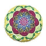 Oferta de Liquidación! Colchón Cubierta de edredón Cojines Indian Mandala Pillows Cover Round Bohemian Casa Cojín almohadas cubierta Caso  Manadlian (E)