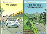 Lot de 2 BD Bidendum michelin * Pax system , the tire and the environment