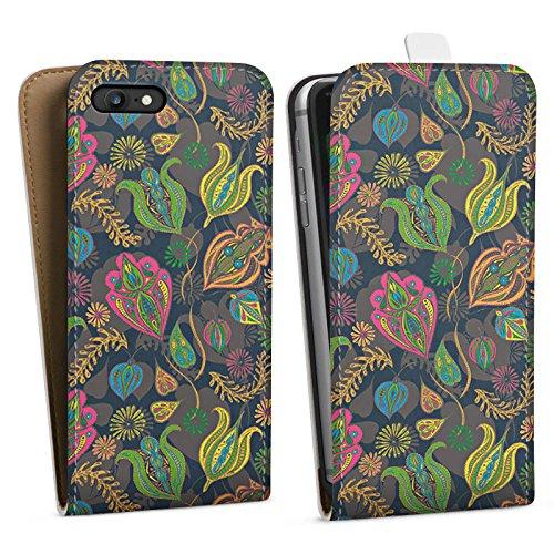 Apple iPhone X Silikon Hülle Case Schutzhülle Blumen Muster Kunst Downflip Tasche weiß