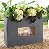 pflanztopf high divider betonoptik tonfaser grau ca b45 x t27 x h97 cm garten. Black Bedroom Furniture Sets. Home Design Ideas