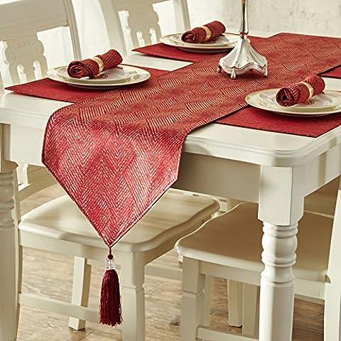 XXTT-Conjunto de paño paño piano minimalista moderno europeo tela mat mantel tabla , chocolate , 35*228cm