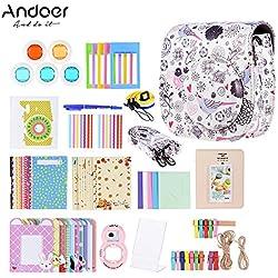 Andoer 14 en 1 Kit d'Accessoires pour Fujifilm Instax Mini 8/8 + / 8 s w/caméra Cas/Sangle/Autocollant/Selfie lentille/Filtre/Album/Film Table Image/Tenture Murale Frame/Pen (#6)