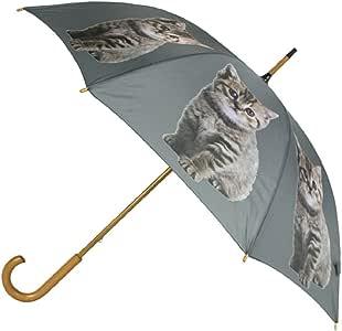 Regenschirm Katze Grau 105 cm Regenschirme Stockschirm