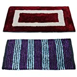#2: Story@Home Handicraft Style Eco Series 2 Piece Cotton Blend Door Mat Set - 16