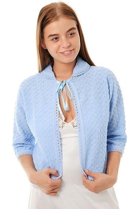 Cottonreal /'Calla/' Victorian Style 100/% Cotton Lawn Ladies Bed Jacket