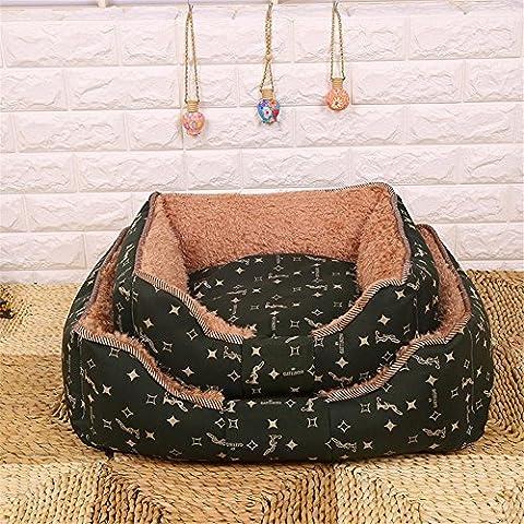 Migliori animali gatto Pet letto pile coperta cuscino stuoia staccabile lavabile Pet Accessori , green ,