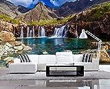 Yosot Schöne Landschaft Non Woven Tapeten See Wasserfall Fototapete 3D-Hintergrund Wand Dekoration Malerei Für Wohnzimmer-200Cmx140Cm