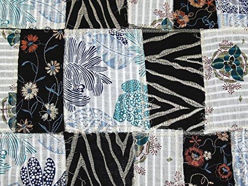 Bestickte Baumwoll-voile Kleid (bestickt Patchwork Baumwolle Voile Kleid Stoff mehrfarbig-Meterware)