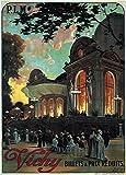 World of Art Vintage Travel Frankreich für Vichy und Tickets ermäßigten Preisen '250GSM, Hochglanz, A3, vervielfältigtes Poster