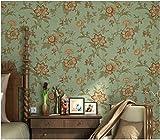 Yosot Retro American Tapete Vlies 3D-Pastorale Wohnzimmer Sofa Tv Hintergrundbild Hellgrün