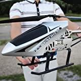 Kikioo Super Large 2.4GHZ Remote Control Helicopter Gifts For Teenagers Boys Girls 3.5 Channel Anti-Collision Gyro RC Helicop