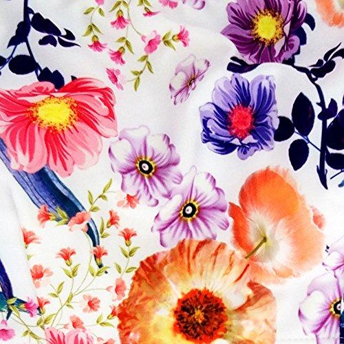 ... Easylifer Damen Blumendrucke Bademode Strand Bandeau Bikini Set  Mehrfarbig ...