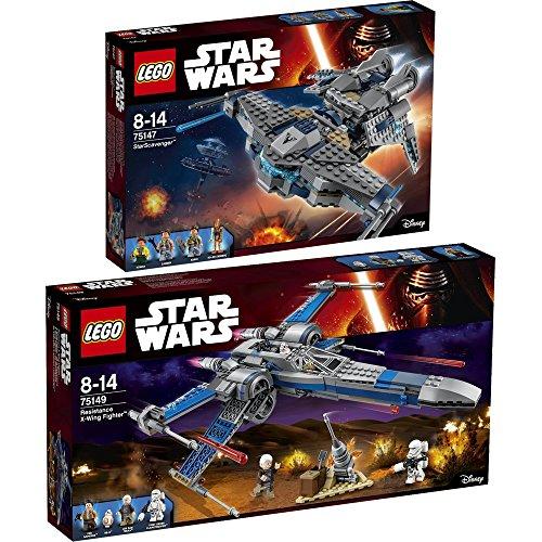 Preisvergleich Produktbild Lego Star Wars 2er Set 75147 75149 StarScavenger + Resistance X-Wing Fighter - sofort lieferbar!