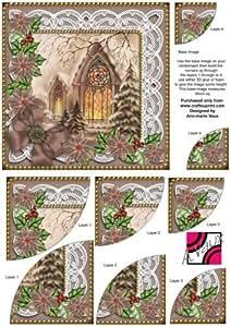 Fenêtres Poinsettia Duo de rangement d'angle - 15 Par Ann Vaux-marie