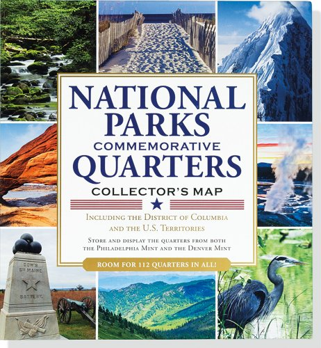 National Parks Commemorative Quarters Collector Map 2010-2021