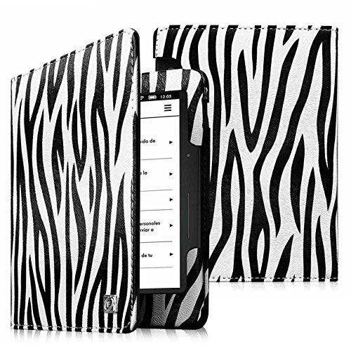 Kindle Voyage Folio Hülle Case - Fintie Slim Schutzhülle Tasche Etui Mit Sleep/Wake Cover Funktion (nur geeignet für Amazon Kindle Voyage 2014), Zebra Schwarz 3g-zebra