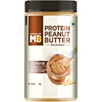 MuscleBlaze High Protein Natural Peanut Butter with Whey Protein - Unsweetened, Crunchy 750g