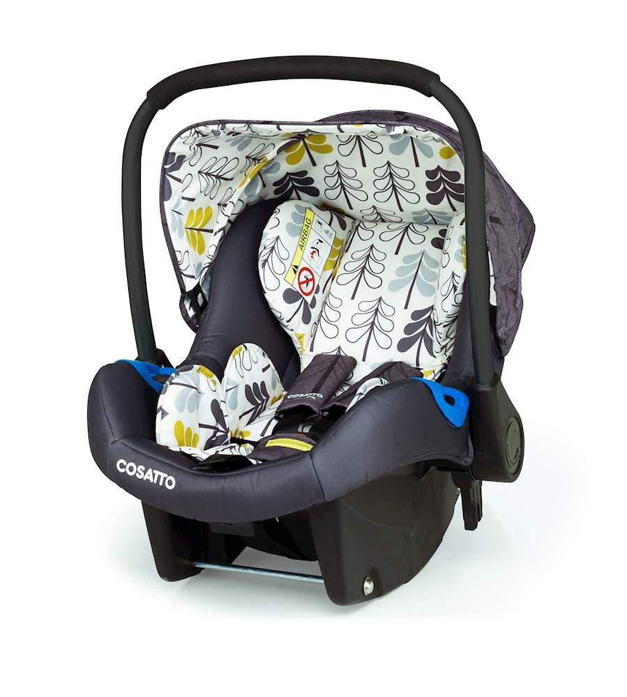 Cosatto Port Carseat (Giggle 3/4) Fika Forest Cosatto From birth to 13kg.(12-15 months approx). rear facer, fits with standard in-car seat belt The deep comfortable shell and side impact protection bring extra in-car security Snug accessories are included. the pop-off washable fabric covers keep port pristine 1