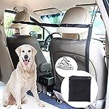 DUTISON Hundenetz Auto Universal Organizer Sicherheitsnetz Trennnetz Zwischen Haustier und Autofahrer Schutznetz für Sicher(115 x 62CM)