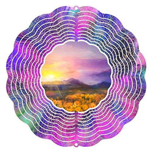 Viento Spinner Patio Art Campos de oro 10