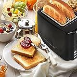 Aigostar Warrior 30JRL – 2-Scheiben Toaster, 7 Toast Bräunung Einstellung, Auftauen, Aufwärmen und Abbrechen Funktionen 750W, Schwarz, BPA frei. EINWEGVERPACKUNG. - 7