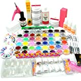 Coscelia Top Nagelset UV Gel Set Profi Nagelstudio Starterset Nail Art Set 48tlg Dekorationset