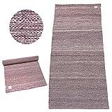 #DoYourYoga Baumwoll-Yogamatte »Rama«/100% Baumwolle/195cm x 69cm/Purple-Weiss