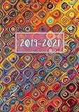 2019 - 2021: Wochenplaner ab KW27   Juli 2019 bis Juni 2021 Kalender   1 Woche auf 1 Seite   24 Monate Planer   DIN A5 Format Terminkalender   Abstrakt Bunt