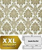 Barock Tapete XXL Vliestapete 3D EDEM 655-95 Damast Muster Textil-Optik Barocktapete grün gold creme hellbraun 10,65 m2