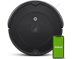 iRobot Roomba 692 Robot Aspirapolvere con Connessione Wi-Fi, Adatto a Pavimenti e Tappeti, Sistema di Pulizia ad Alte Prestaz