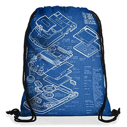 style3 8-Bit Console Portatile Cianografia Borsa da spalla sacco sacchetto drawstring bag gymsac