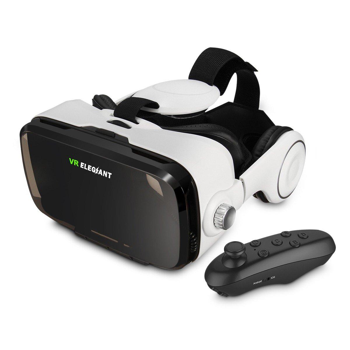 ELEGIANT Lunettes 3D VR Réalité Virtuelle Casque