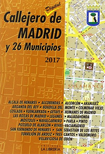 Callejero de Madrid y 26 municipios 2017 por Ediciones La Libreria