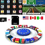 Quanmin Newest GPS Map Card 8Gb SD/TF Card UK RU DE ES IT FR ALL EU AU For GPS Navigation Map Updates GPS Software Wince system