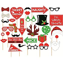 SYGA Set Of 31 Christmas Party Photo Booth Props Christmas party decoration Craft Item