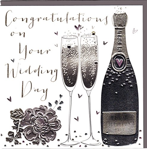 Belly Button Designs Paloma Hochwertige Glückwunschkarte zur Hochzeit mit Folienprägung und Kristallen. BB352