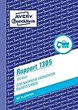 Avery Zweckform 1305 Rapport (A6, mit 2 Blatt Blaupapier, 100 Blatt) weiß