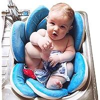 Lelesta Materassino da Lavandino per Bagno di Neonati a Fiore Pieghevole Morbido Protettivo in Spugna Tappeto da Bagno…