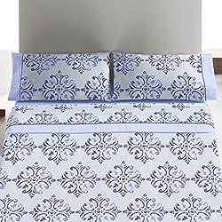 Burrito Blanco Juego de sábanas 452 Azul de cama de 90x190/200 cm