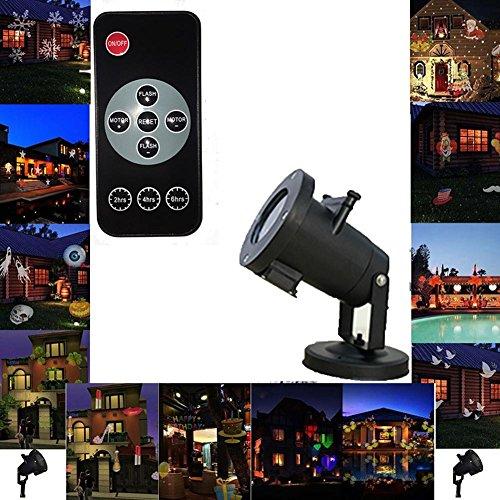 OOFAY LIGHT® Projecteur Exterieur Noël LED 12 lumières de modèle avec des lumières de Noël imperméables à télécommande extérieures