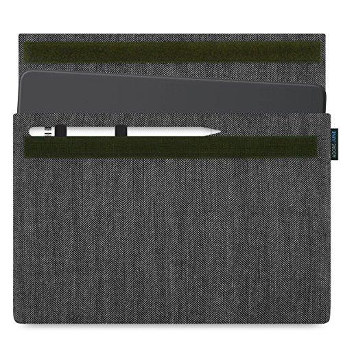 Adore June Business Tasche für Apple iPad Pro 11 und Apple iPad Pro 10 5 10,5 - 11 Zoll mit Apple Pencil Halterung, Grau / Schwarz