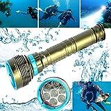WYXlink 2017 Underwater 200m 20000LM 7x XM-L2 LED Scuba Diving Flashlight 3X18650/26650 Torch
